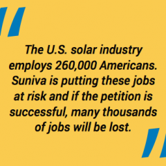 Suniva Trade Case Could Cost 90,000 US Jobs if Gov. Rules for Bankrupt Company