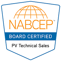 NABCEP Certified PV Technical Sales