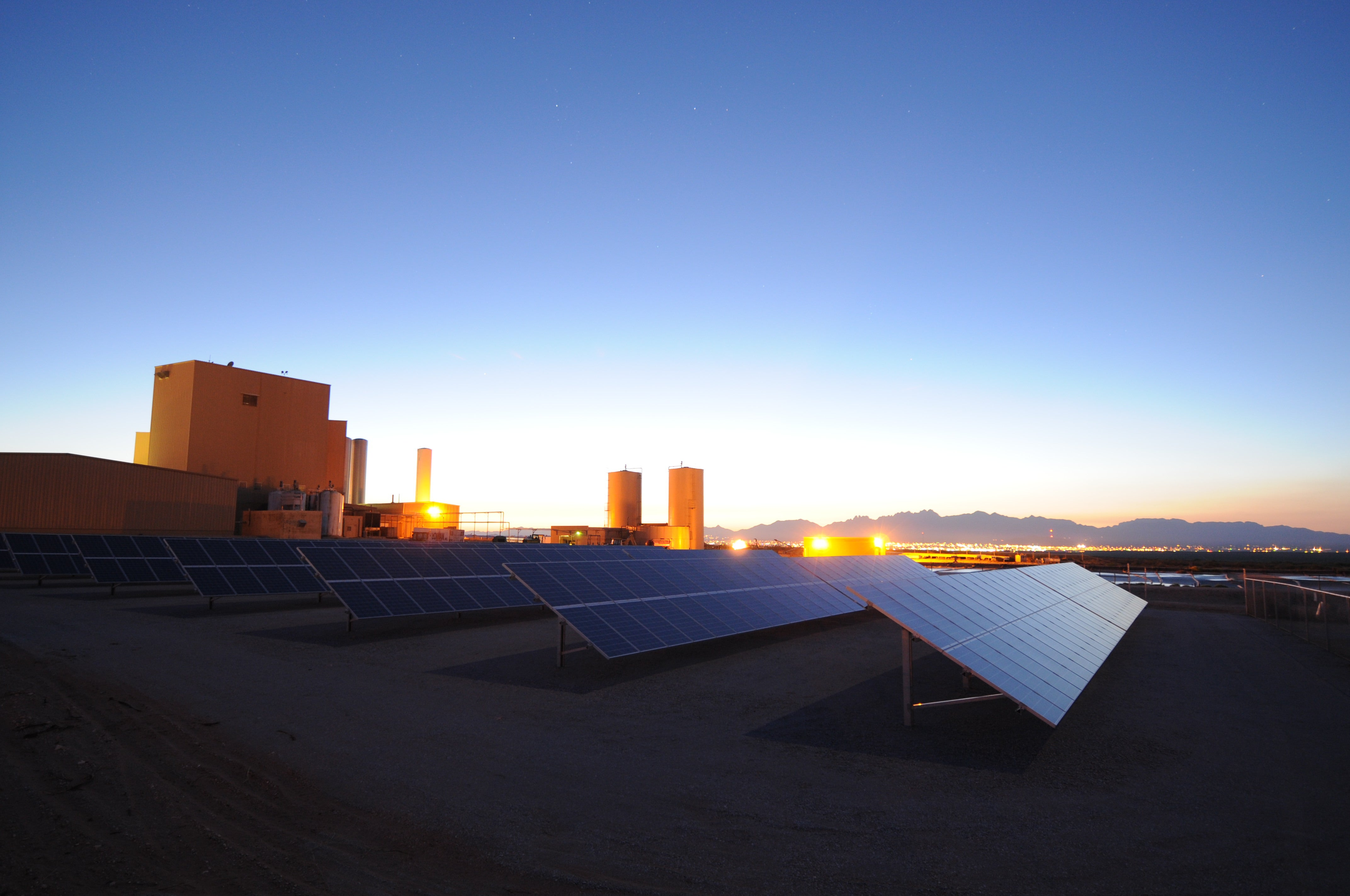 The Sunspot Solar PV array at F&A Dairy