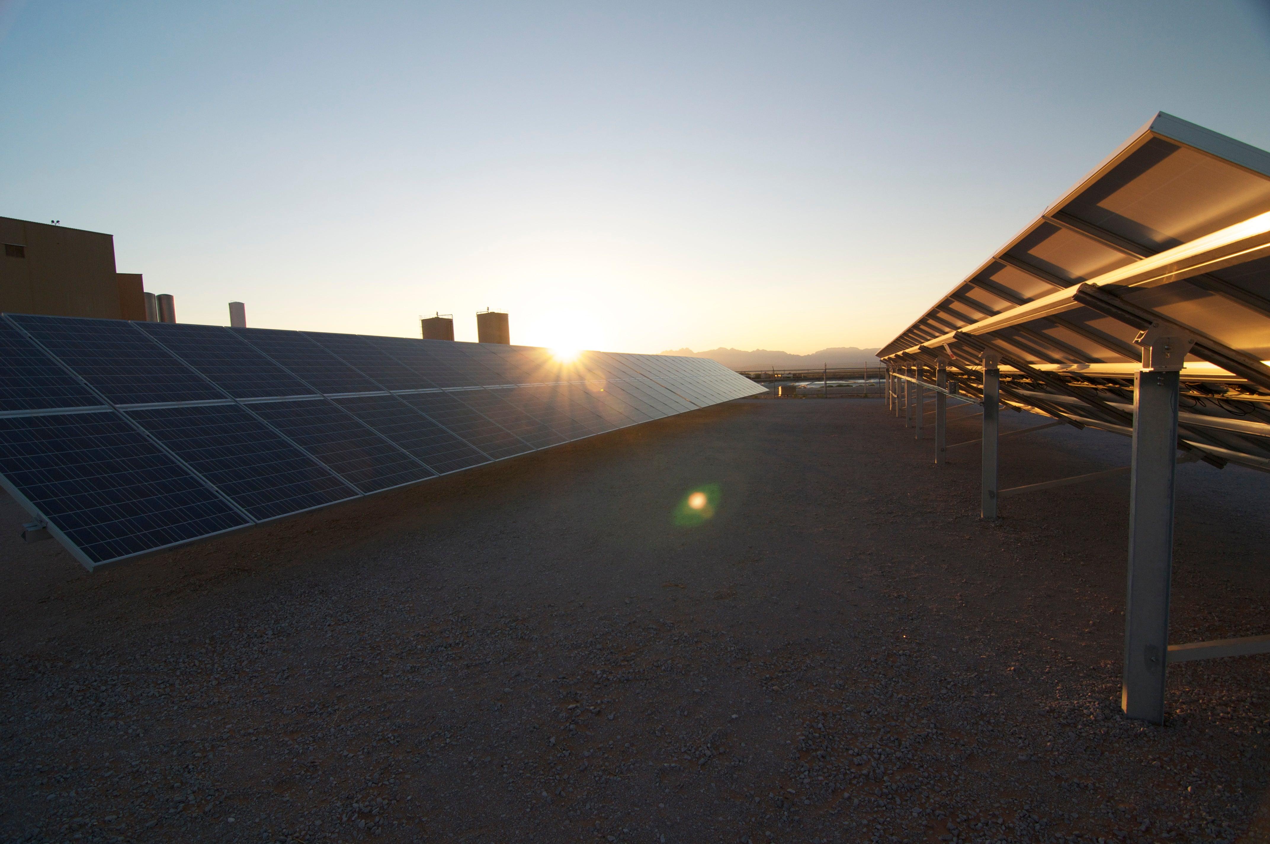 Sunspot Solar ground mount solar PV.