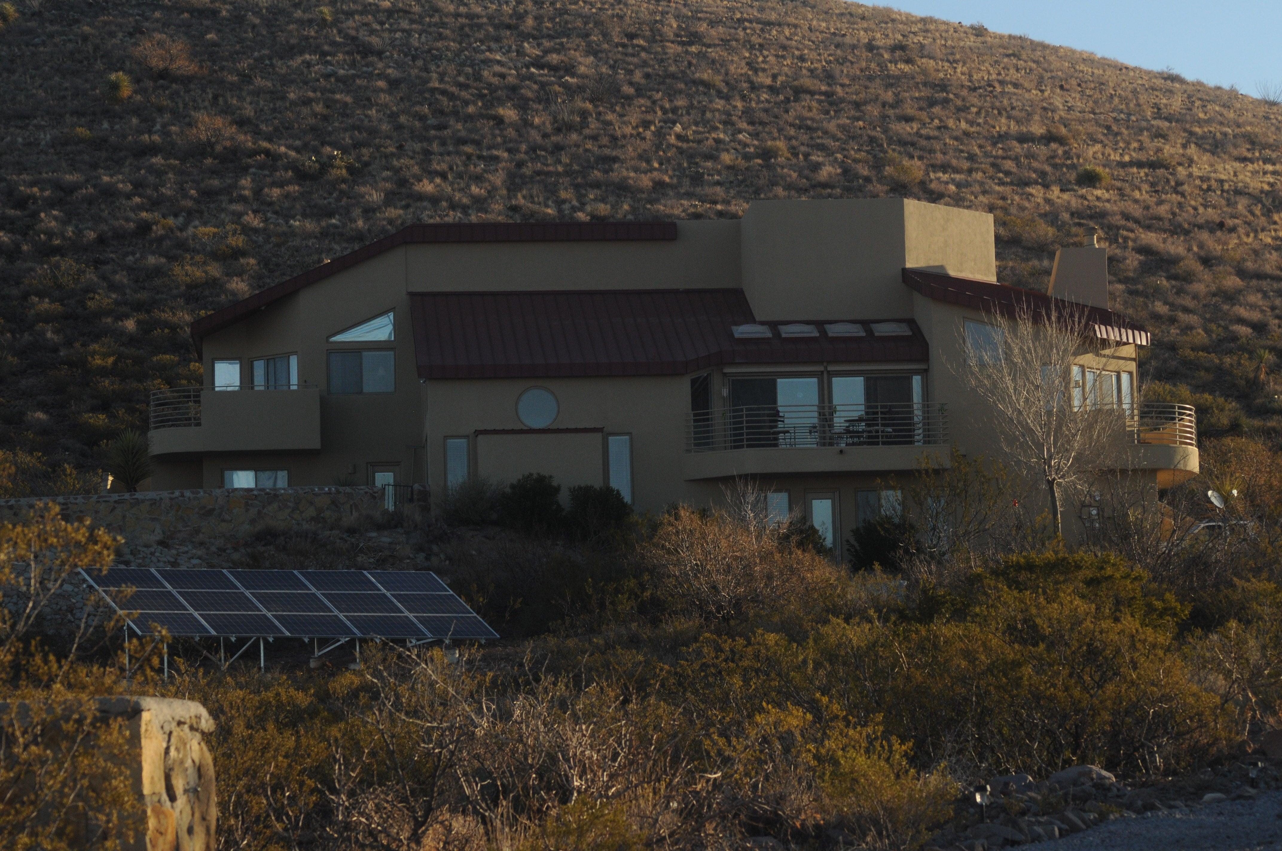 A Sunspot Solar ground mount solar PV system.