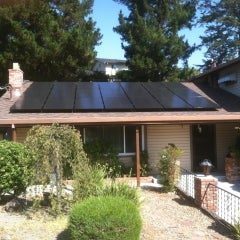 All black solar modules with Enphase micro-inverters. (Pleasant Hill)