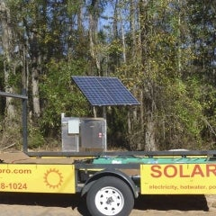 solar electric power backup for remote sites