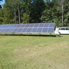 Solar electric grid tied