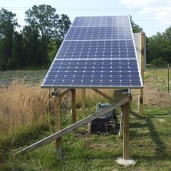 Solar well for mellons and goats