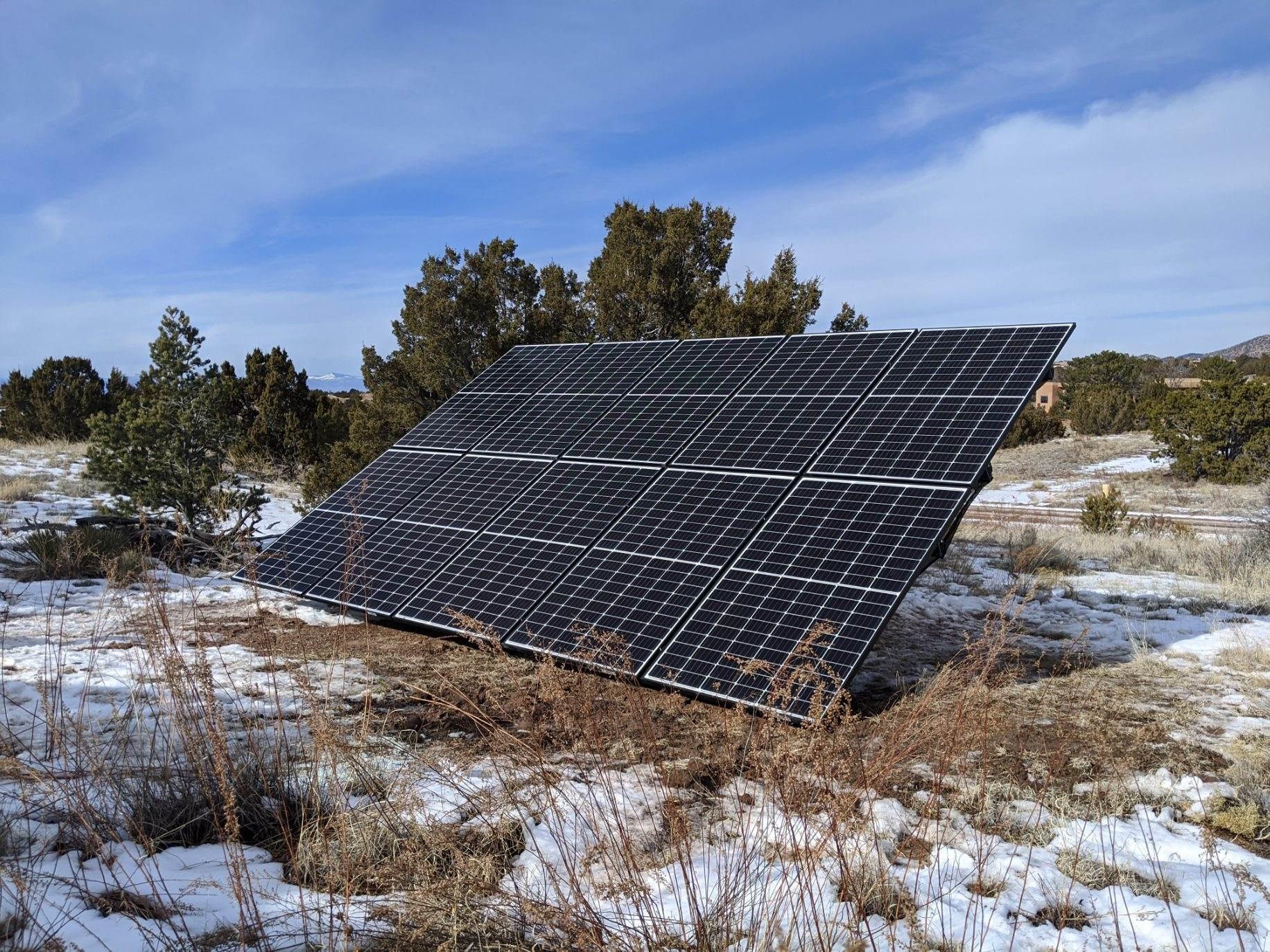Ground Mounted Solar Panel Installation, Santa Fe