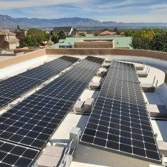 Foot Roof Solar Panel Installation, Albuquerque