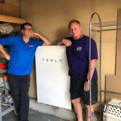 Tesla Battery Installation