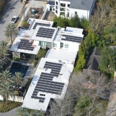 32kW Flat Roof Solar in Bellaire Texas
