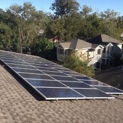 A 6.5kW solar array consisting of 26 x 250 watt Siliken panels,