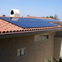 Solar Electric Panels on a Spanish Tile Roof