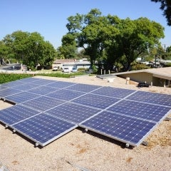 Solar Electric Panels on a Flat Roof