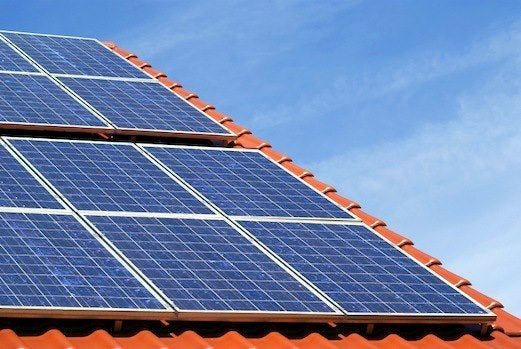 Tile roof mounted solar PV system