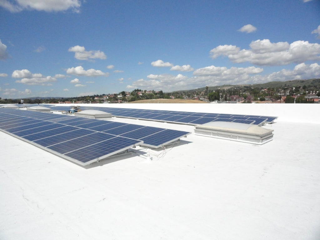 Commercial Solar PV + Cool Roof