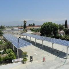San Gabriel Hilton Hotel Solar Carport