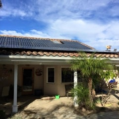 9.1 kW solar electrical system in Valley Center, California