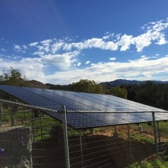 7.8 kW ground mounted solar electrical system in Valley Center,