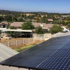 6.9 kW solar electrical system in Valley Center, California