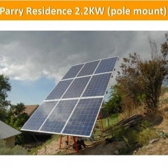 Parry Residence 2.2KW (pole mount)