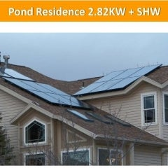 Pond Residence 2.82KW + SHW