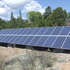 7.2kW Ballasted Ground Mount, 100% Solar home power
