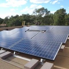8.4kW ballasted array Santa Fe, NM