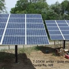 7.05kW solar array- pole mounted. Santa Fe, NM