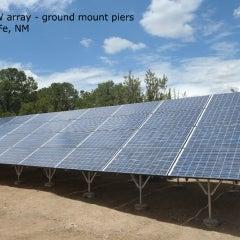 8.28kW solar array- ground mount piers. Santa Fe, NM