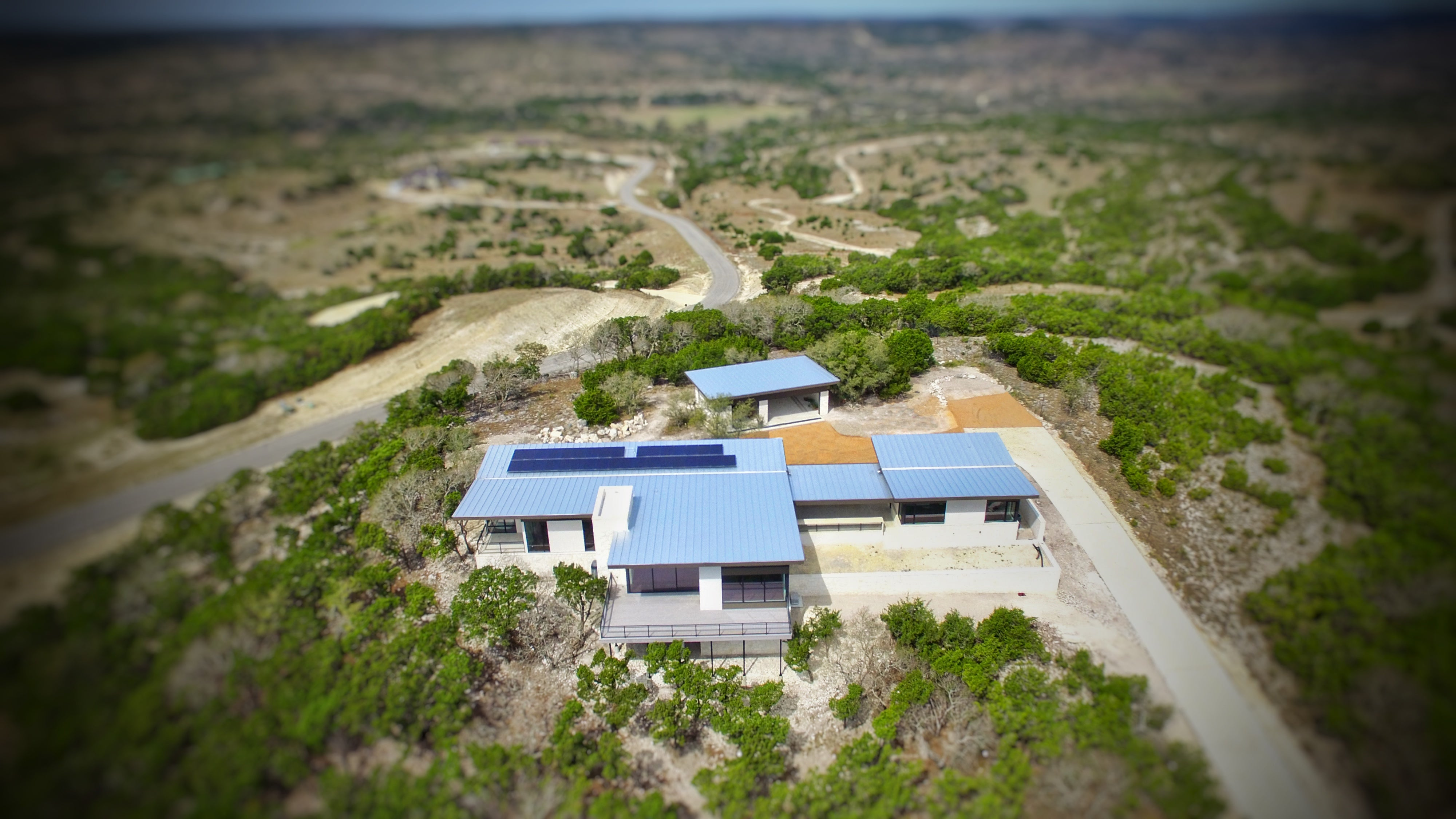 Solar Powered Home in Blanco, Texas