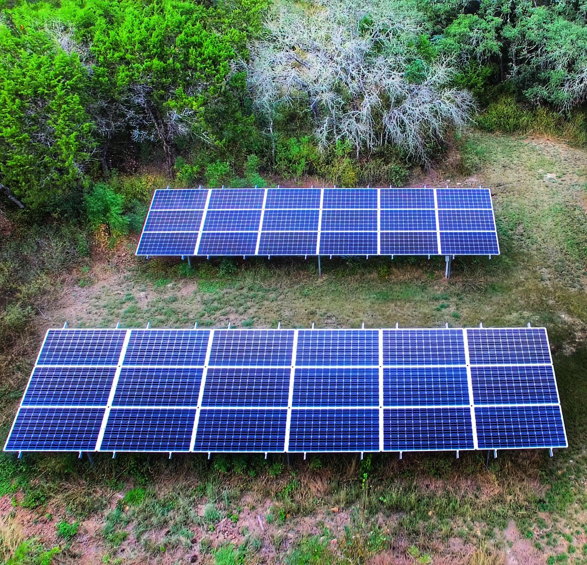 Residential Ground Mount Solar Array - Austin, Texas