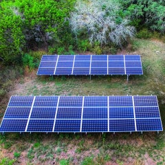 Residential Ground Mount Solar Array - Austin, Texas
