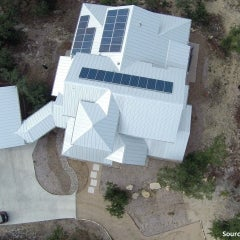 Rooftop Solar on NATiVE-Built Net-Zero Home with Rainwater Collection