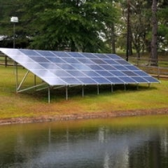 This 10Kw ground mount system is off-grid capable