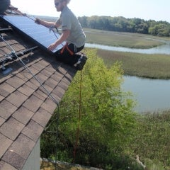 Our installer Glen getting the job done safely in Charleston SC