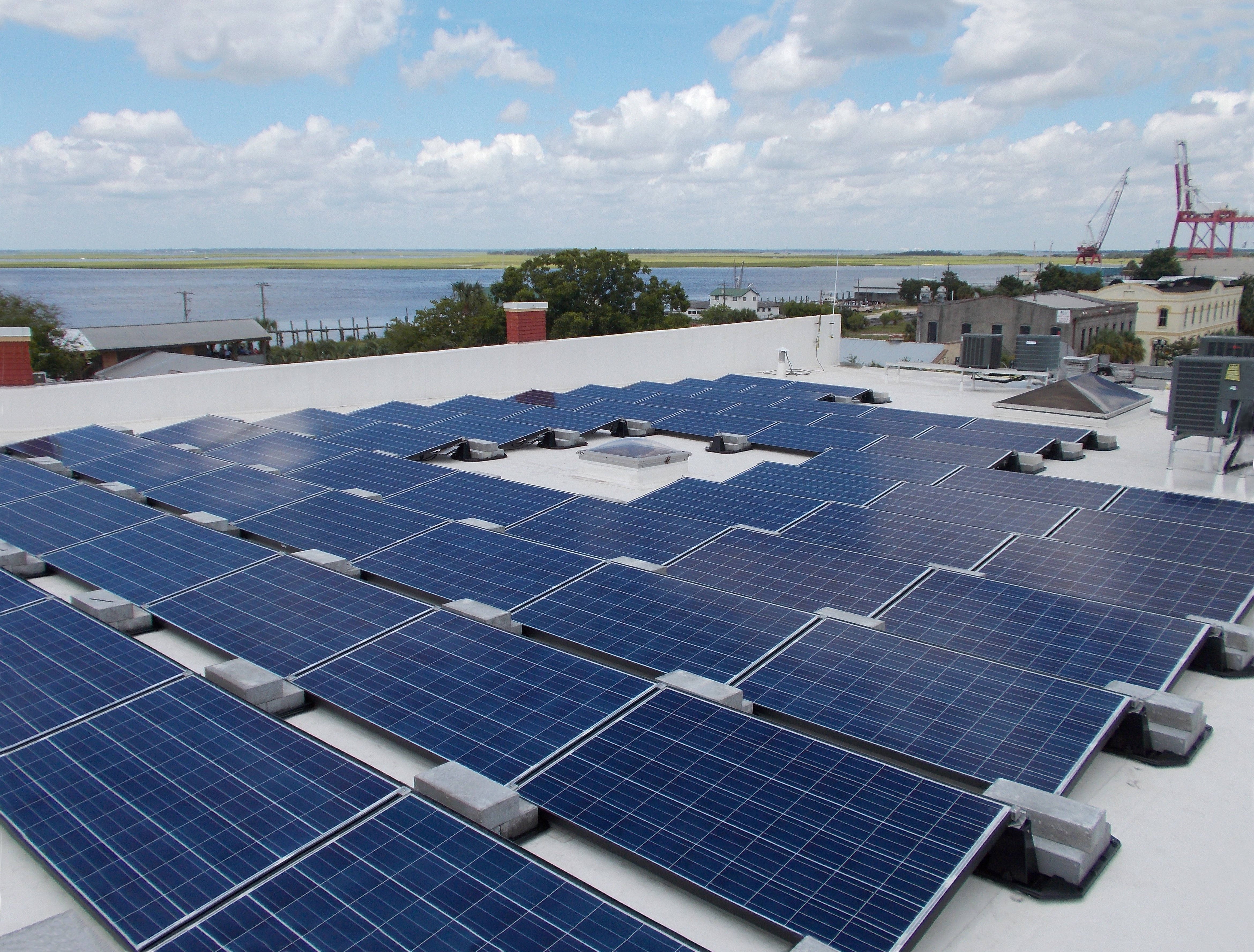 Commercial PV on the historic Chandlery, Fernandina