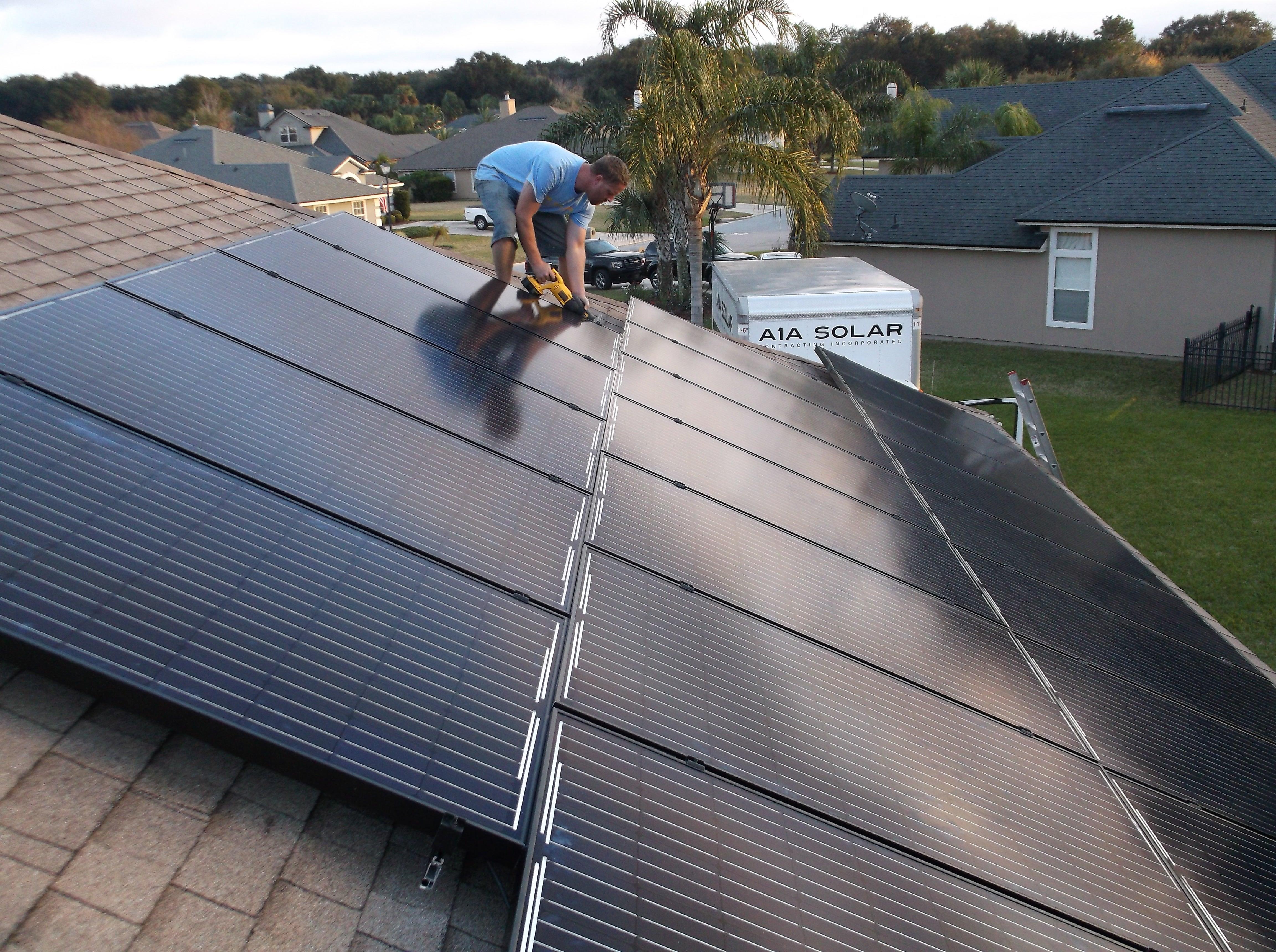 10.07KW residential PV installation in progress