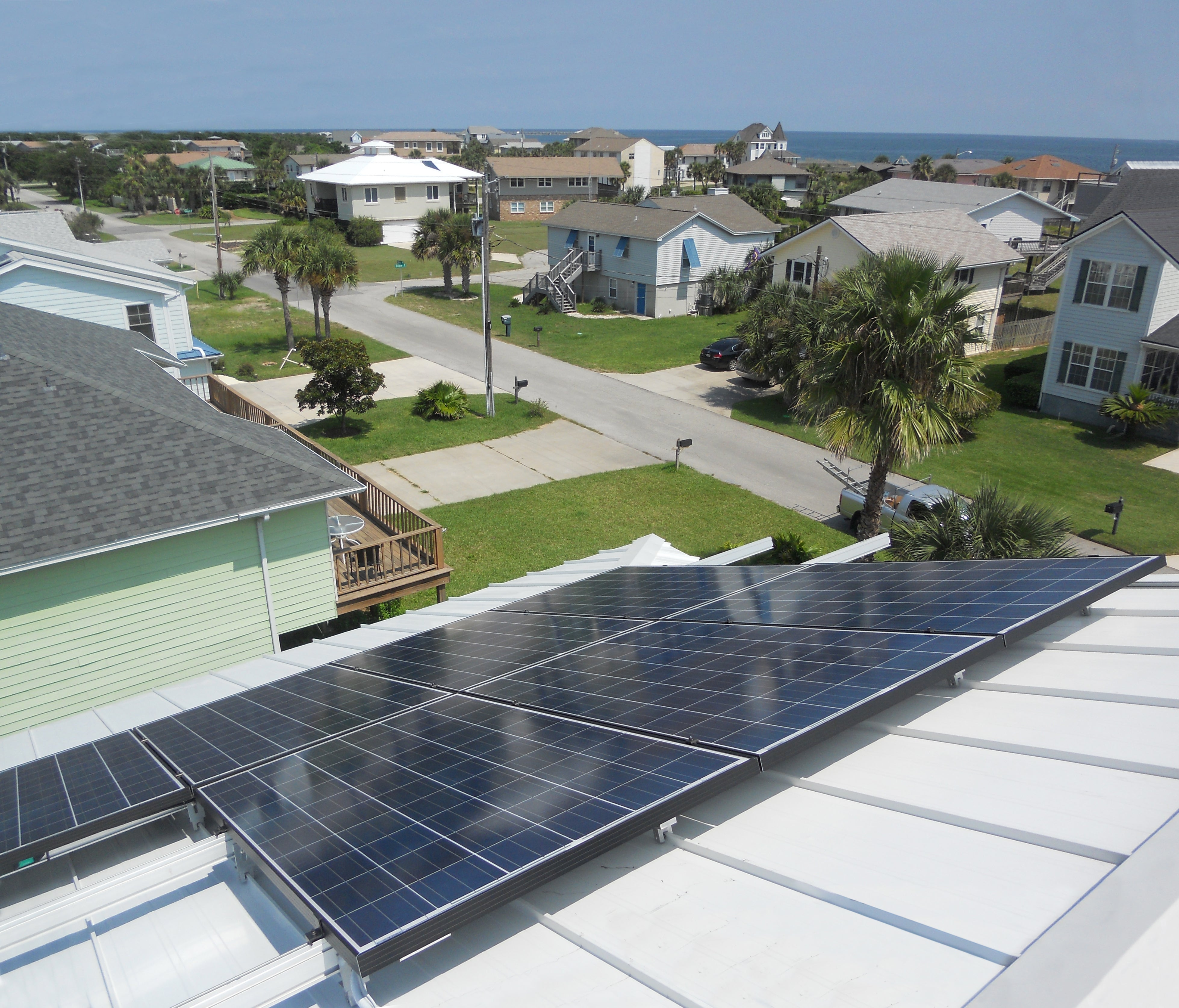 Ocean-side 9.25KW residential PV installation