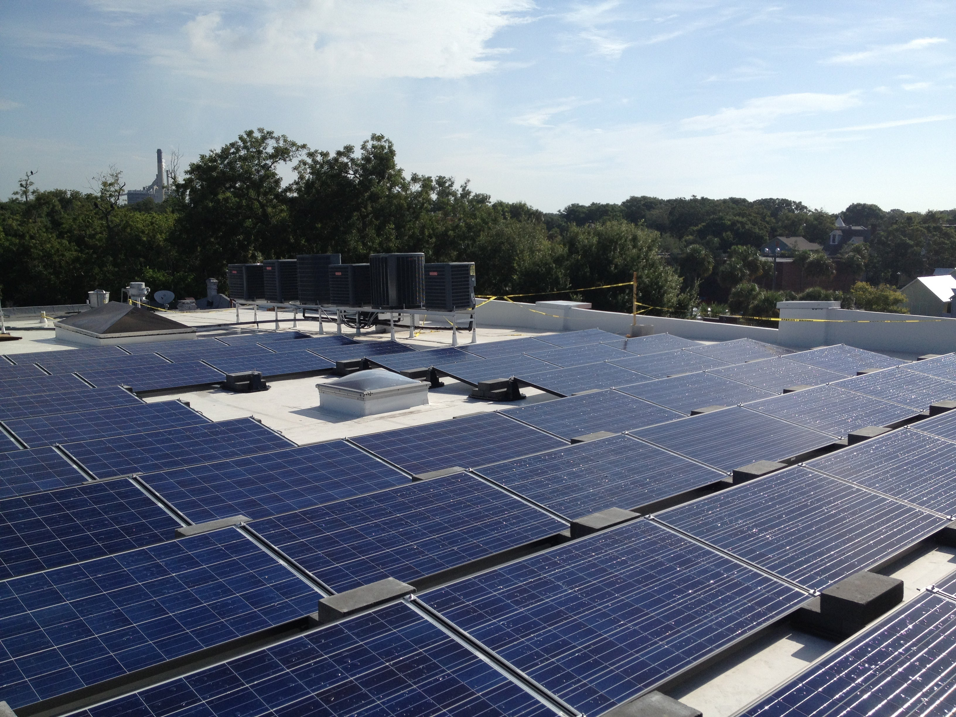 16.5 KW Commercial PV with Ballast Mounting System