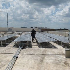 Side view of UCF Harris array