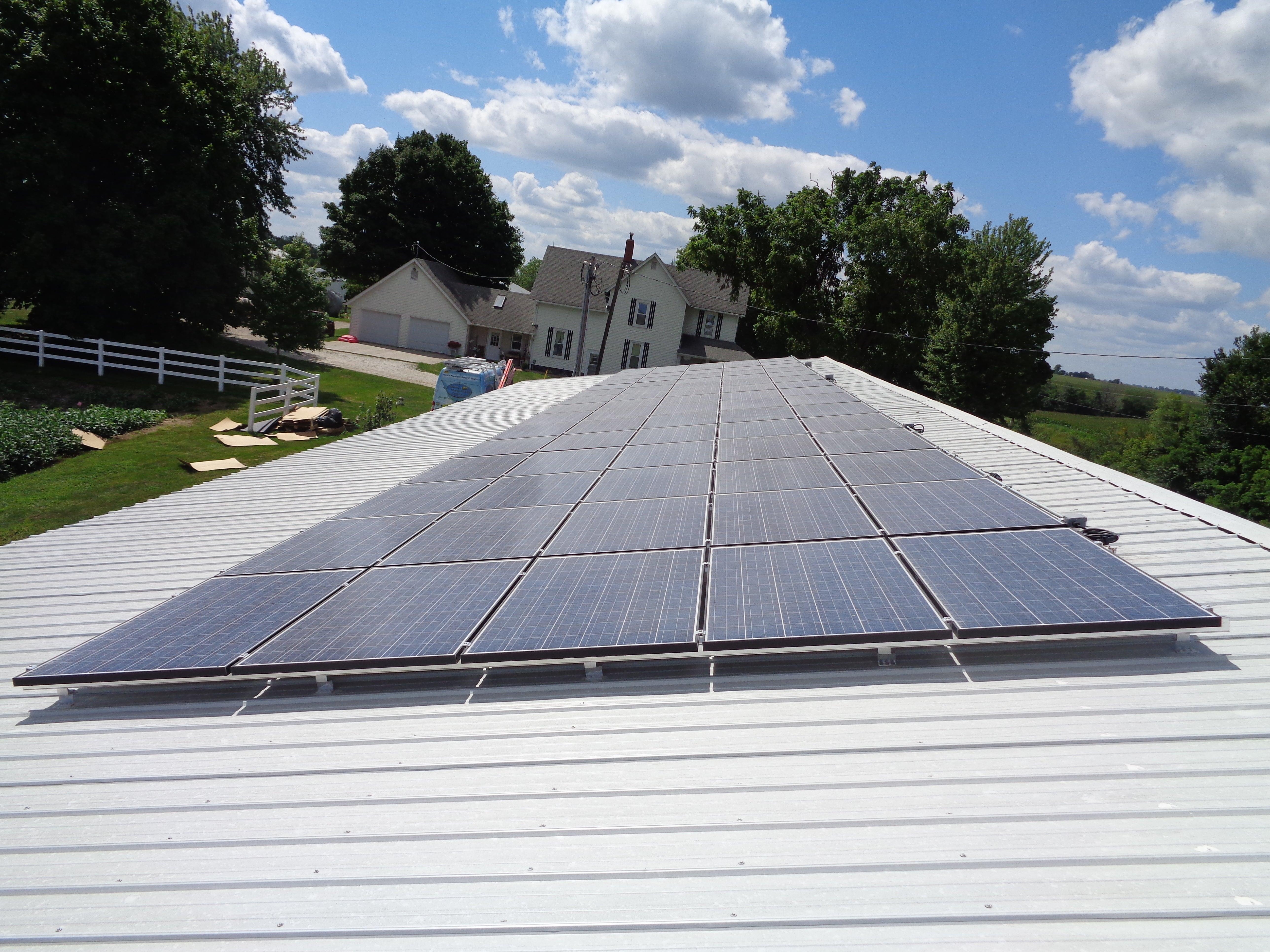 18.75Kw Roof Mount Turkey Farm