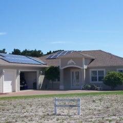 5040 watt solar PV system installed in Flagler Beach, FL