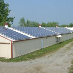 82 kW Roof Mount on Poultry House in PA
