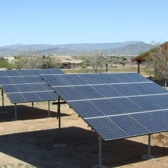 Desert Hills ground mount, 9.3kW, 48 panels