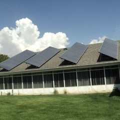 Roof mounted solar PV array