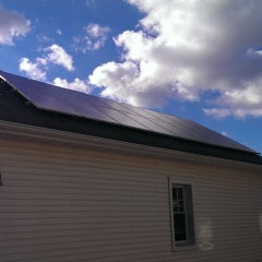 SunBlue Energy solar installation