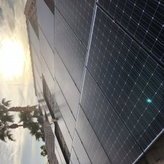 A beautiful Las Vegas sunset and a beautiful Panasonic solar panel installation!