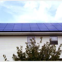 Residential solar PV array