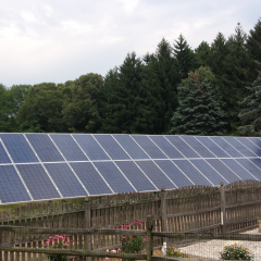 10Kw solar array near The Richard Stockton College of NJ.