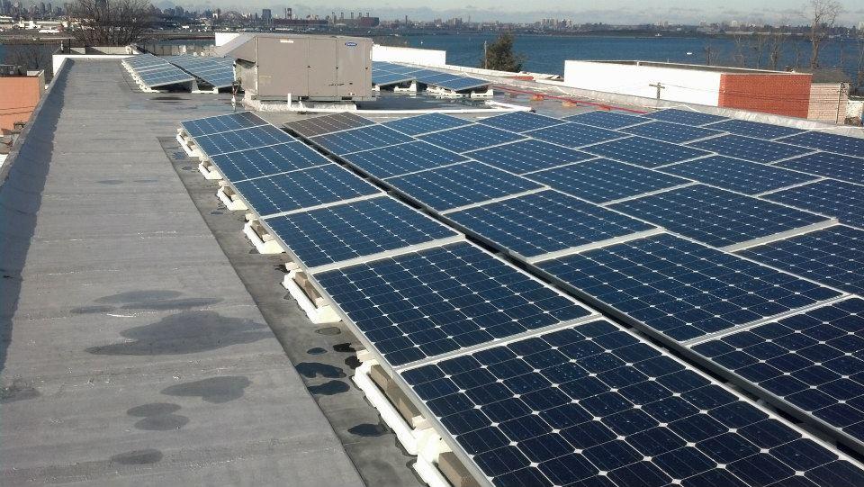 Commercial solar PV array