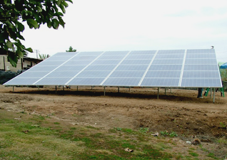 8.1 kW ground mounted solar array